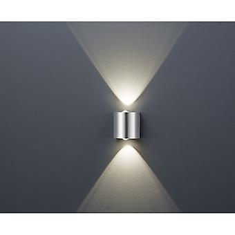 Trio Lighting Wales Modern Nickel Matt Metal Wall Lamp