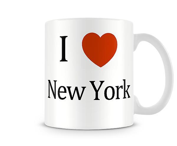 Me encanta la taza impresa Nueva York
