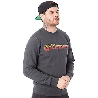 Element Charcoal Heather Horizontal Fill Crew Sweater