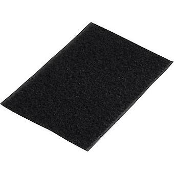 Basetech 98001c375 Hook-and-loop tape stick-on Hook pad (L x W) 500 mm x 100 mm Black 1 pc(s)
