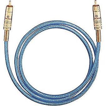 Oehlbach Digital digitale Audio-Cinchkabel [1 x CINCHSTECKER (Cinch) - 1 X RCA-Stecker (Cinch)] 3 m Blau