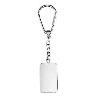 Orton West Dogtag nyckelring - Silver