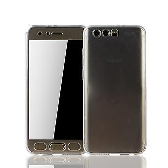 Huawei honor 9 mobiele bescherming-case volledige gevaldekking van het tank bescherming transparantie van het glas