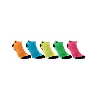 Globe Assorted Fluro Pack of 5 Ankle Socks