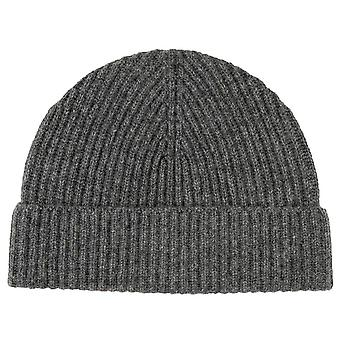 Johnstons of Elgin Full Cardigan Stitch Hat - Mid Grey