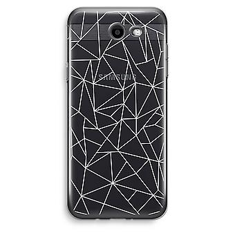 Samsung Galaxy J3 Prime (2017) Transparent Case (Soft) - Geometric lines white