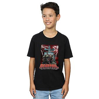 Marvel Boys Deadpool Grave T-Shirt