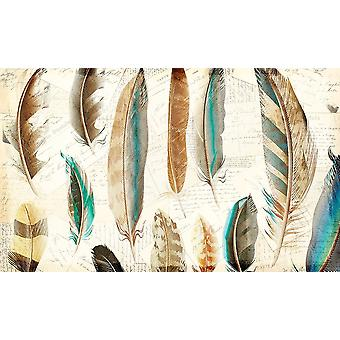 Feather Letters 1 Poster Print by Allen Kimberly