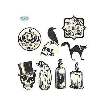 Halloween und Horror Halloween Glitzer Sticker