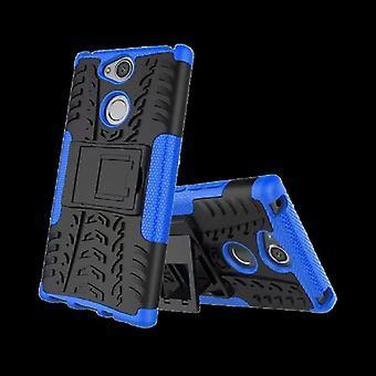Pedazo de caso 2 híbrido azul de robot SWL para Sony Xperia XA2 plus bolsa caso cubierta de protección