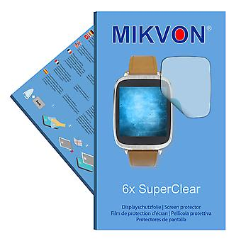 Asus ZenWatch (WI500Q) screen protector- Mikvon films SuperClear (intentionally smaller than the display due to its curved surface)