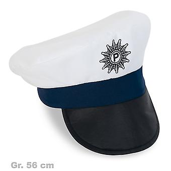 Polizeimütze Schutzmann Kappe weiß