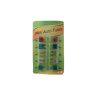 Flatsäkringar Mini 10-Pack
