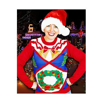 Men costumes  Ugly Christmas sweater with advent wreath unisex