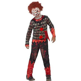 Deluxe Zombie Clown Costume, Medium Age 7-9