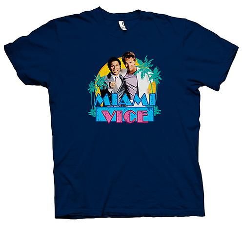 Tubbs y Crockett Mens t-shirt - Miami Vice-