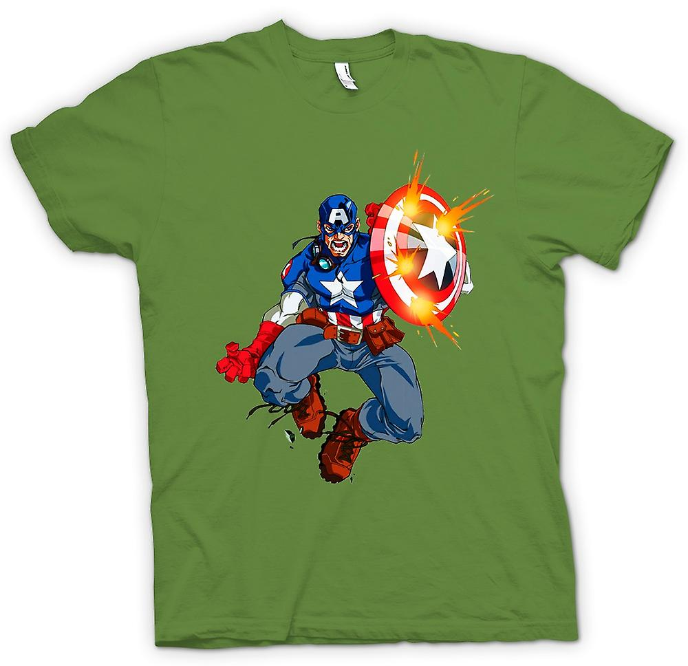 Mens T-shirt - Captain America - Comic Hero
