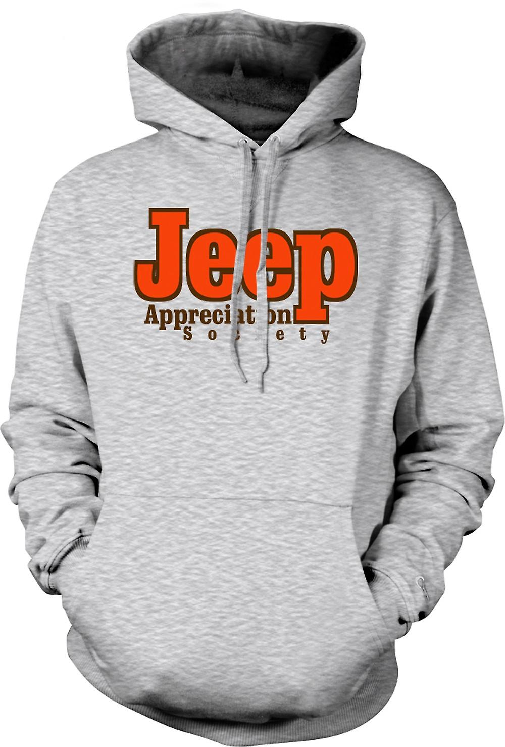 Mens hettegenser - Jeep Appreciation Society