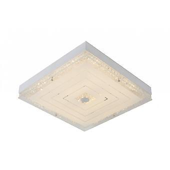 Luminaire de plafond acrylique Transparant Flush lucide Vivi moderne carré