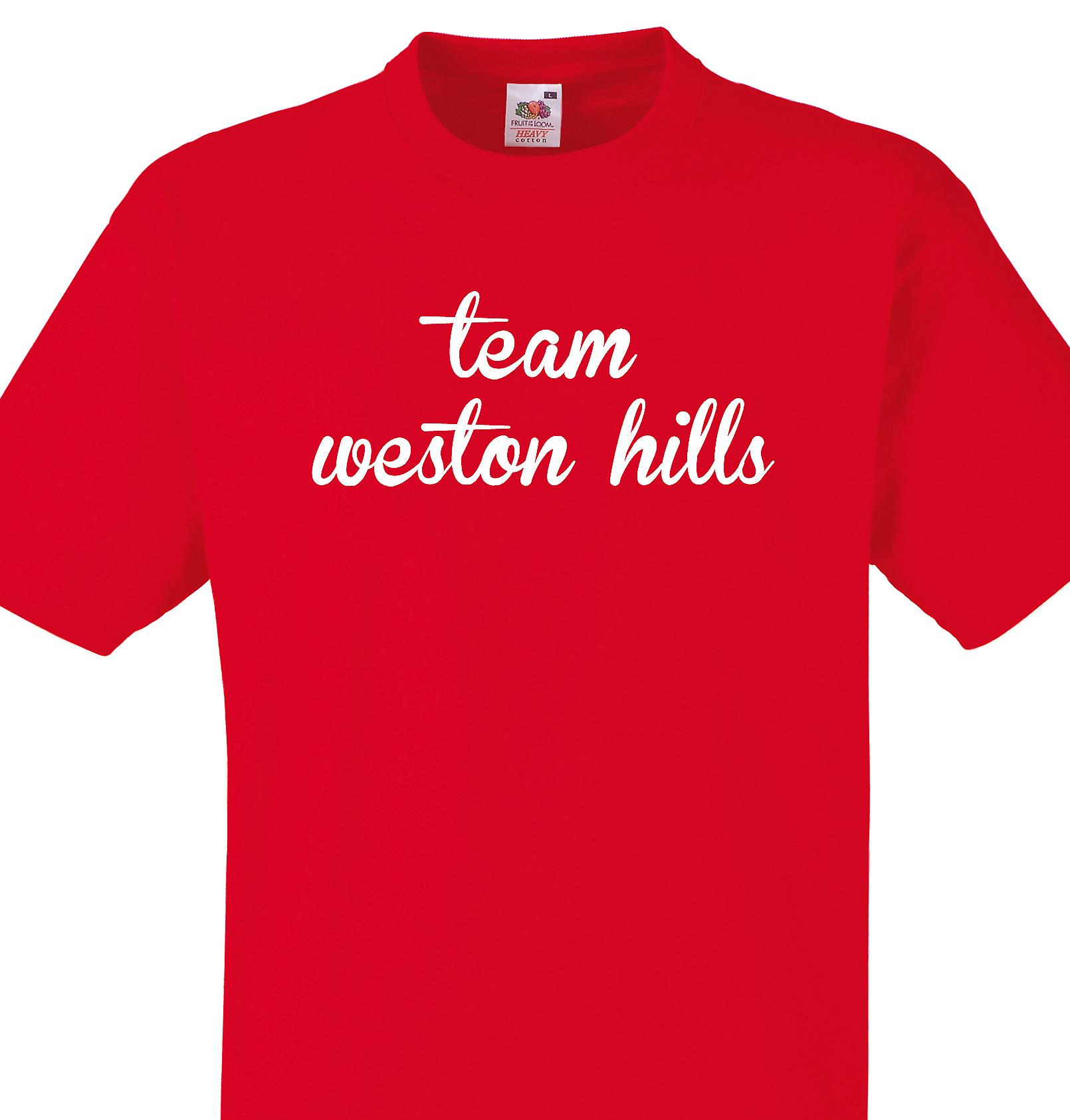 Team Weston hills Red T shirt