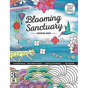 Blooming Sanctuary Coloring Book: 3 Books in 1 (Colouring Books)