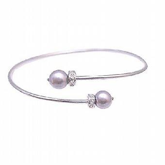 Paarse Mauve parels Jewelry betaalbare Mauve Swarovski parels Rondells