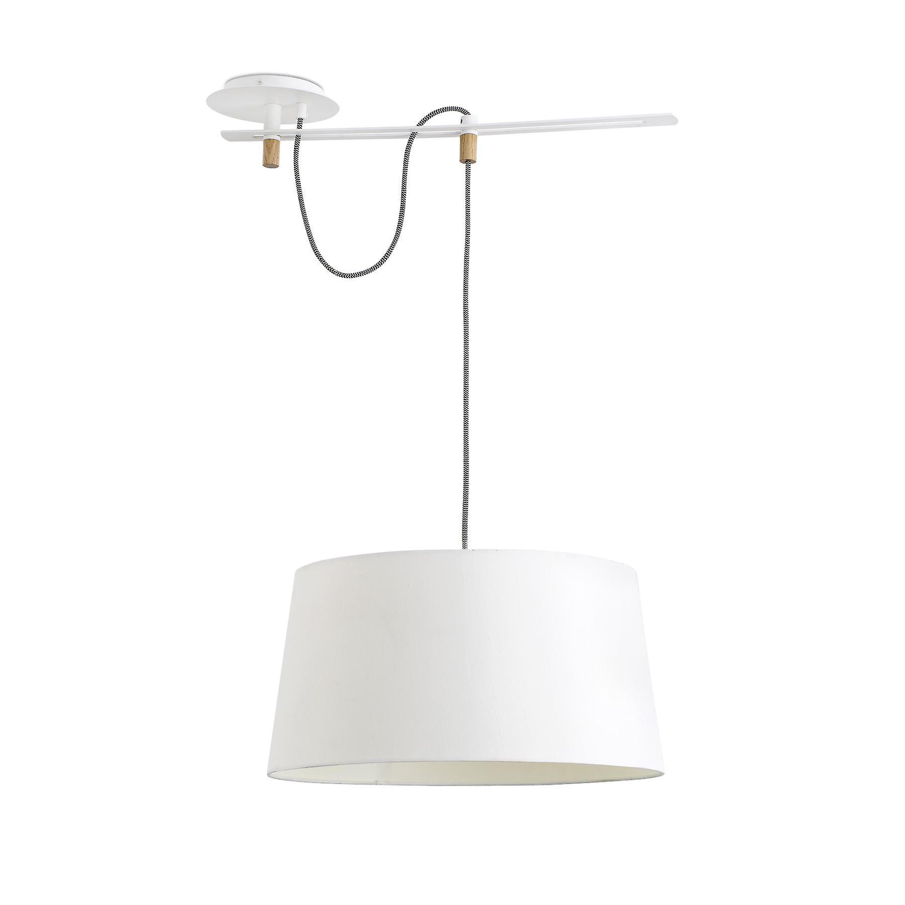 Faro - Fusta blanc et pendentif en bois FARO28394