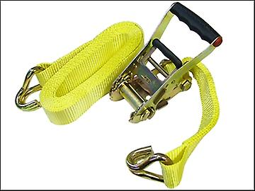 Faithfull Ratchet Tie Down 5m x 50mm Trucker Breaking Strain 4500kg