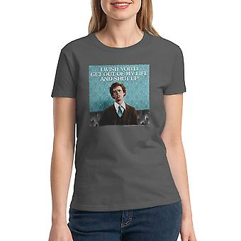 Napoleon Dynamite Get Out Of My Life Women's Charcoal  Funny T-shirt