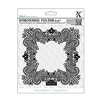 Xcut 6x6 Inch Embossing Folder Ornate Frame (XCU 515209)