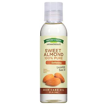 Nature's truth 100% pure skin care base oil, sweet almond, 4 oz