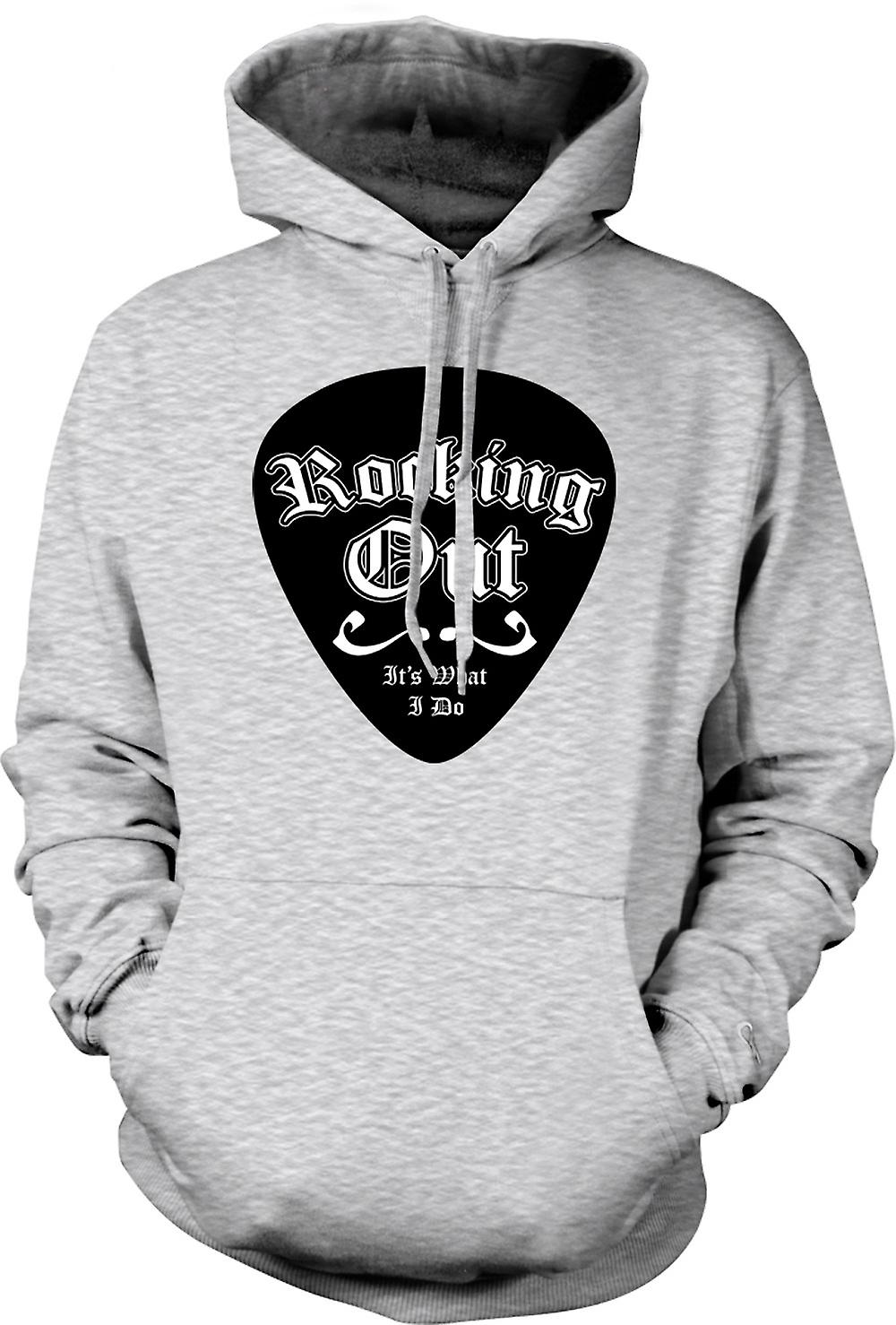 Mens Hoodie - Rocking Out Is What I Do - Funny