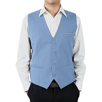 Allthemen Costume Costume Vest Cotton Blend Business Casual Slim Fit Vest 9 Couleurs