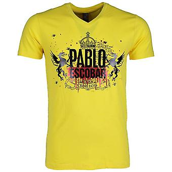 T-shirt-Pablo Escobar Crime Boss-Yellow