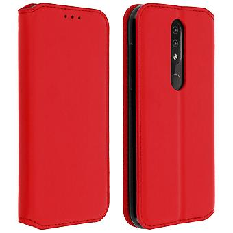 Slim Case, Classic Edition stand case with card slot for Nokia 4.2 - Red