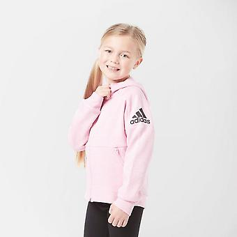 New adidas Girl's ID Stadium Full Zip Hoodie Pink