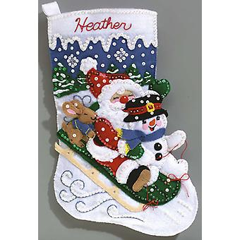 Christmas Fun Stocking Felt Applique Kit 16 1 2