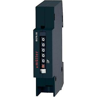 Müller BW7018 Operating hours timer Counter rolls, Distributor installation, Assembly dimensions 17.5 X 45 m