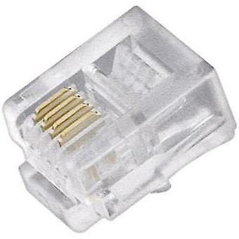 Western connector Plug, straight 71084 Transparent