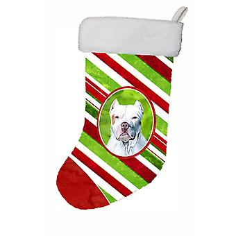 Pit Bull Candy Cane Holiday Christmas  Christmas Stocking SC9341