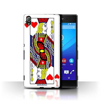 STUFF4 Case/Cover for Sony Xperia Z3+/Plus/Jack of Hearts/Playing Cards