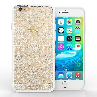 Yousave Accessories iPhone 6 and 6s TPU Patterned Hard Case Damask White