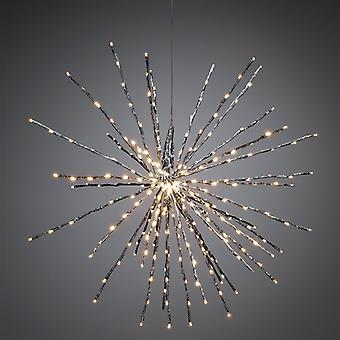 Konstsmide 2897-343 Twinkling LED Silver Ball of Twigs Decoration 84cm