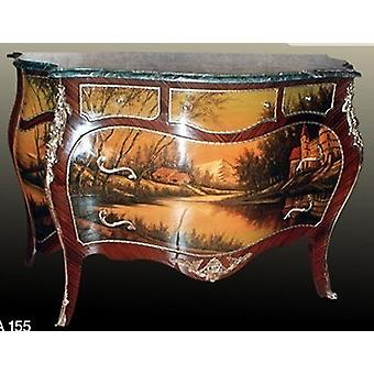 baroque chest of drawers with painting antique style  MoPa0155