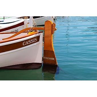 Traditionelles Boot mit hölzernen Ruder Poster Print von pro Karlsson