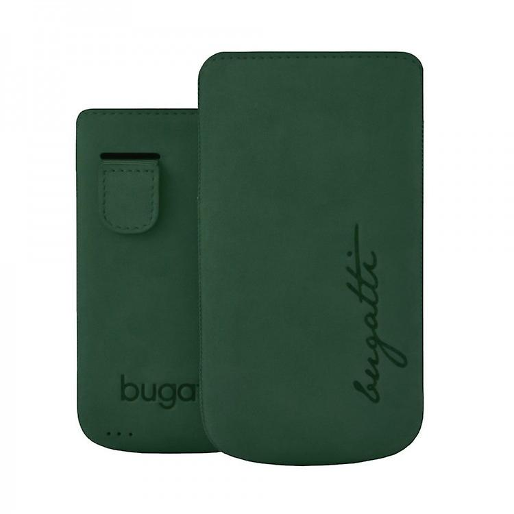 Bugatti perfect velvety leather case cover shell for iPhone 4 / 4 S - Cypress Grün