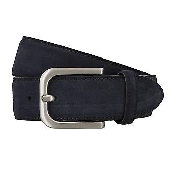 BRAX belts men's belts leather belt Suede Blue 4687