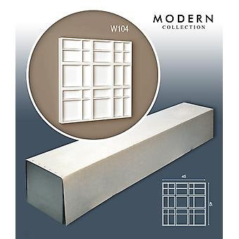 ORAC decor W104 MODERN 1 box SET with 5 wall panels decorative elements. 1.01 m2