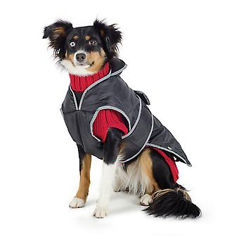 Muddy Paws 3 In 1 Combo Coat & Knit Black/red Small