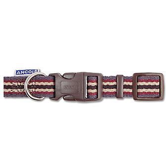 Indulgence Cotton Adjustable Collar Damson Stripe 30-50cm Sz 2-5